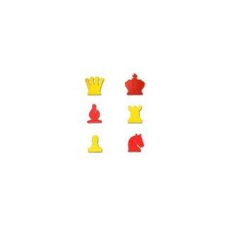 Ersatzfiguren-Set für Demo-Schachbrett, Kunststoff