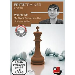 Wesley So: My Black Secrets in the Modern Italian - DVD