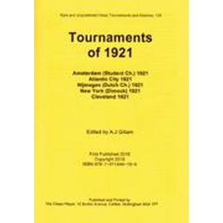 Anthony J. Gillam: Tournaments of 1921