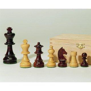 Schachfiguren Staunton-Form, Palisander und Buchsbaum, KH 95 mm