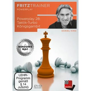 Daniel King: Power Play 28: Taktik-Turbo Königsgambit - DVD