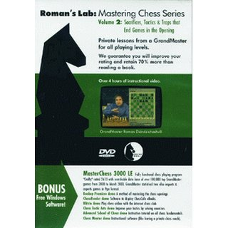 Roman Dzindzichashvili: Sacrifices, Tactics, Traps that End Games in Opening - DVD