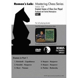 Roman Dzindzichashvili:  Greatest Games of Chess ever Played 1 - DVD