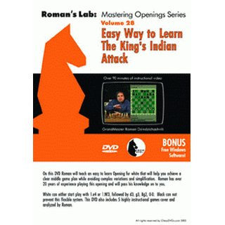 Roman Dzindzichashvili: Easy Way to Learn The Kings Indian Attack - DVD