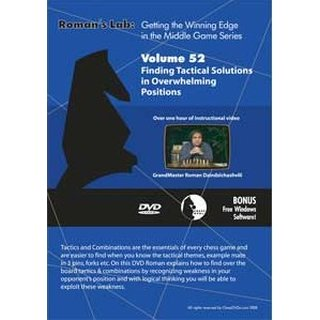 Roman Dzindzichashvili: Finding Tactical Solutions in Overwhelming Positions - DVD