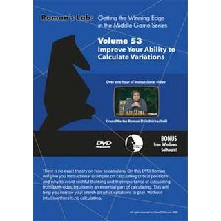 Roman Dzindzichashvili: Improve Your Ability to Calculate Variations - DVD