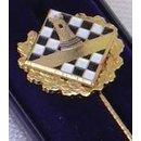 Anstecknadel Dame Gold